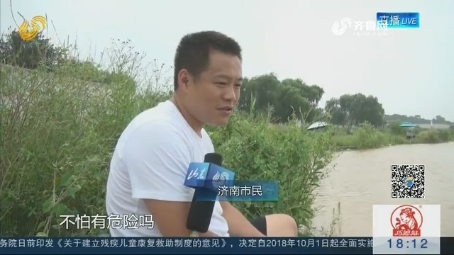 【父母在 不野游】观察深一度:大水来袭 有人黄河边钓鱼 有人带孩子戏水