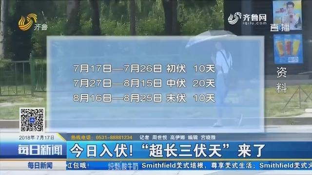 """7月17日入伏!""""超长三伏天""""来了"""