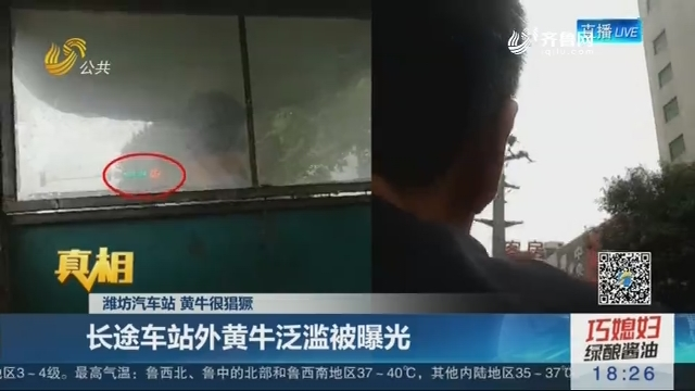 【真相】潍坊汽车站 黄牛很猖獗:长途车站外黄牛泛滥被曝光