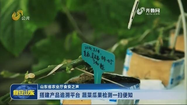 20180720《食安山东》:山东省农业厅食安之声——搭建产品追溯平台 蔬菜瓜果检测一扫便知
