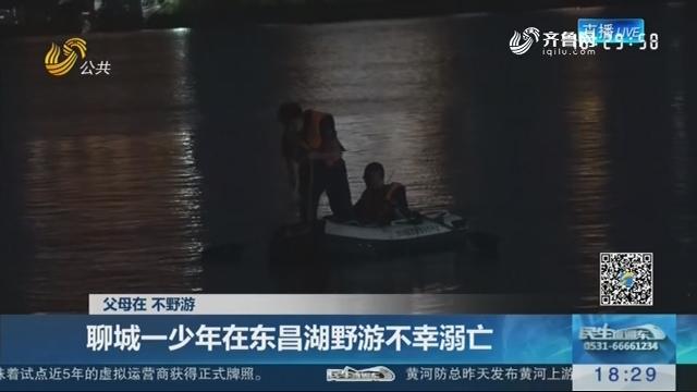 【父母在 不野游】聊城一少年在东昌湖野游不幸溺亡