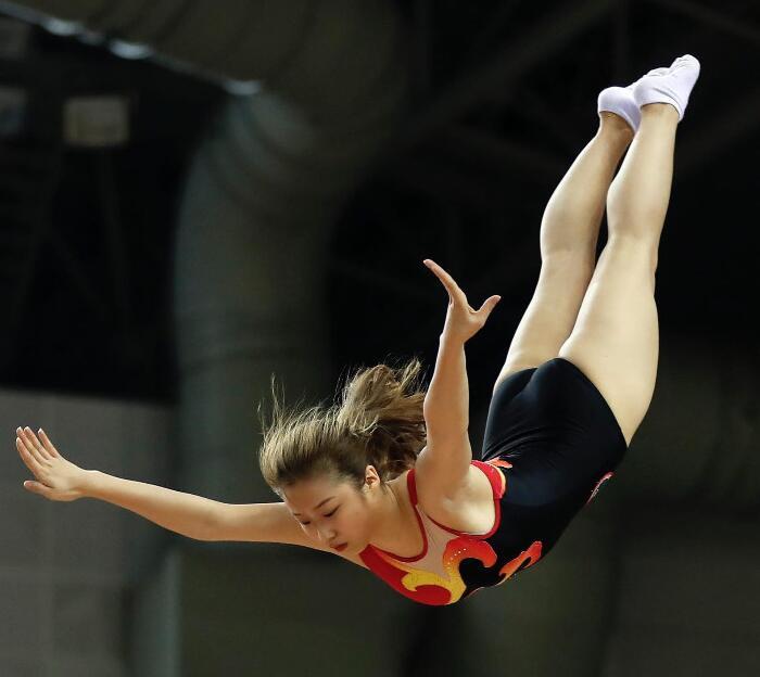 全国青少年蹦床锦标赛团体赛高密落幕