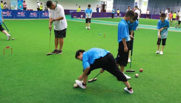 山东省首个青少年门球比赛举行