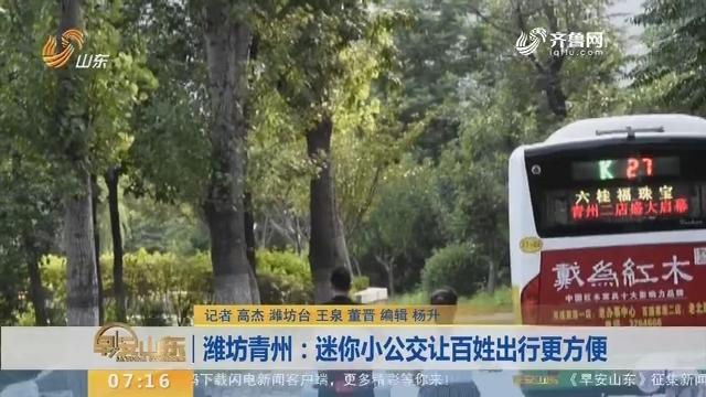 【闪电新闻排行榜】潍坊青州:迷你小公交让百姓出行更方便