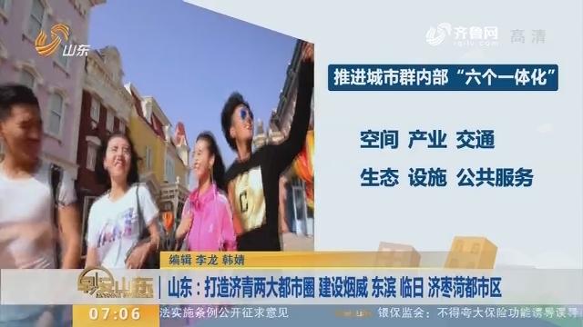 山东:打造济青两大都市圈 建设烟威 东滨 临日 济枣菏都市区