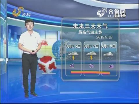 看天气:未来三天最高气温31℃左右