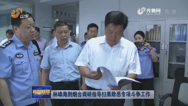 林峰海到烟台调研指导扫黑除恶专项斗争工作