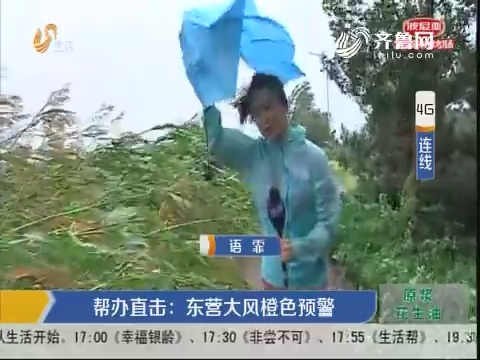 【4G连线】帮办直击:东营大风橙色预警
