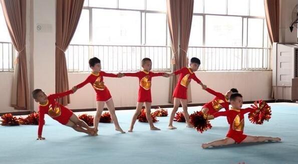 """新泰:体操""""小将""""在省赛中获冠军"""