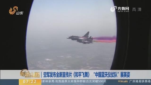 """空军发布全新宣传片《和平飞舞》 """"中国蓝天仪仗队""""展英姿"""