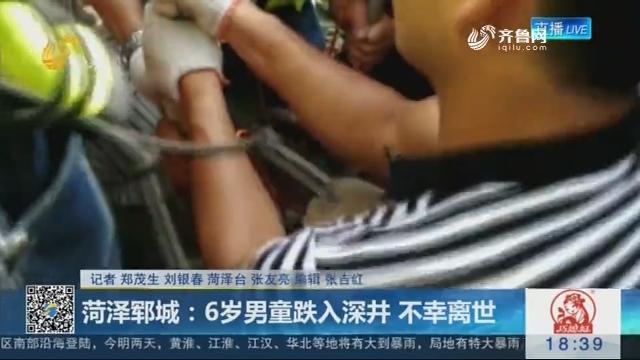 菏泽郓城:6岁男童跌入深井 不幸离世