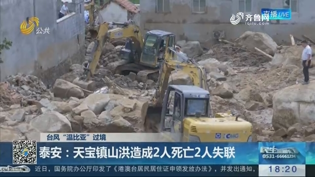 """【台风""""温比亚""""过境】泰安:天宝镇山洪造成2人死亡2人失联"""