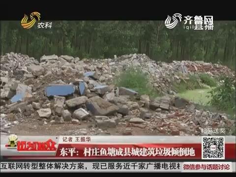 东平:村庄鱼塘成县城建筑垃圾倾倒地