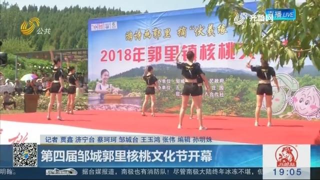 第四届邹城郭里核桃文化节开幕
