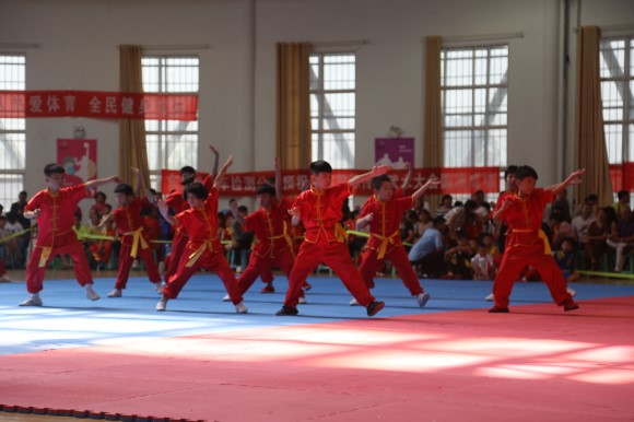 首届泰山国际传统武术大会拉开帷幕