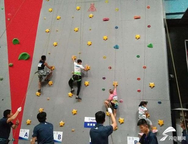 山东省第八届全民健身运动会攀岩比赛济宁开赛