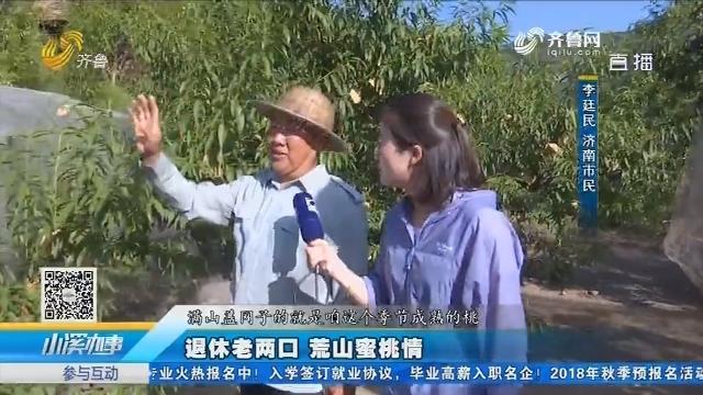 济南:退休老两口 荒山蜜桃情
