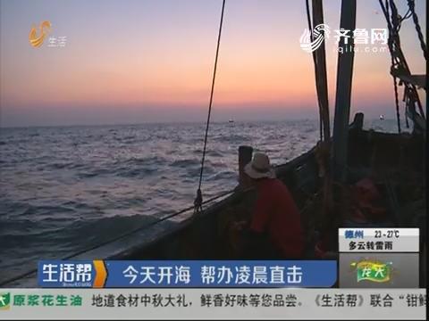 青岛:9月1日开海 帮办凌晨直击