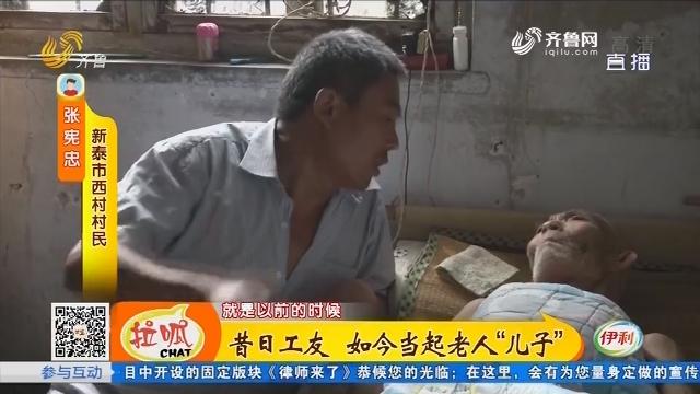 """新泰:昔日工友 如今当起老人""""儿子"""""""