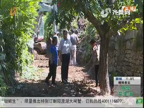 """潍坊:""""生产路""""被毁 几万斤桃运不出"""