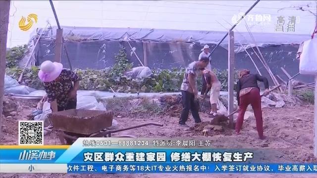 寿光:灾区群众重建家园 修缮大棚恢复生产
