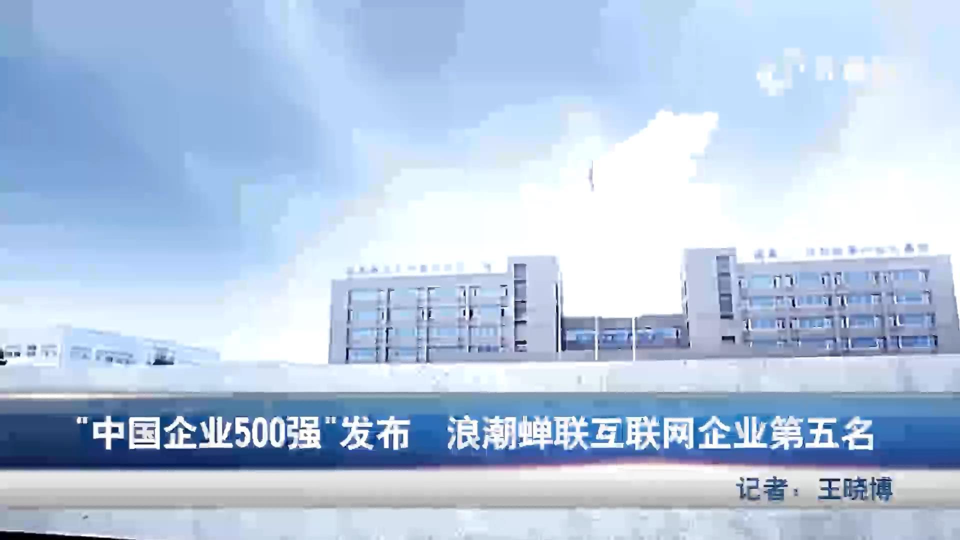 中国企业五百强发布 浪潮蝉联互联网企业第五名