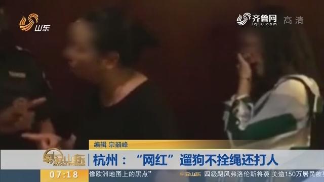 """【闪电新闻排行榜】杭州:""""网红""""遛狗不拴绳还打人"""