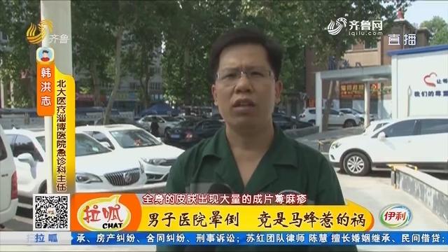 淄博:男子医院晕倒 竟是马蜂惹的祸
