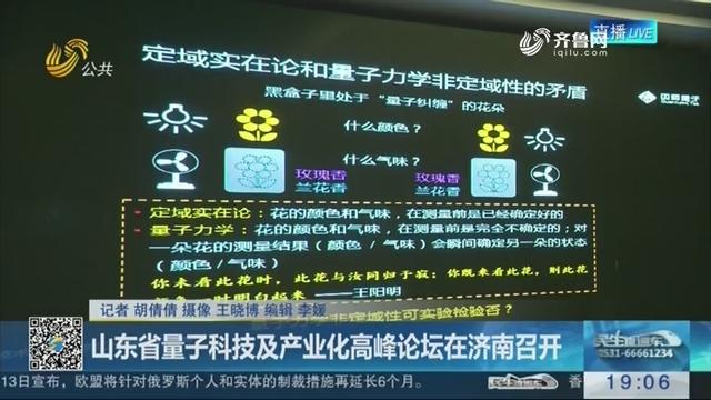 山东省量子科技及产业化高峰论坛在济南召开