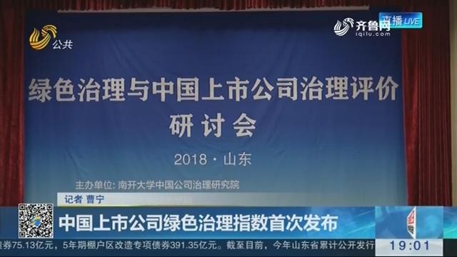 中国上市公司绿色治理指数首次发布