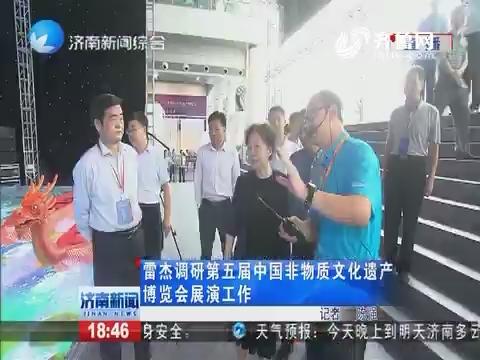 雷杰调研第五届中国非物质文化遗产博览会展演工作