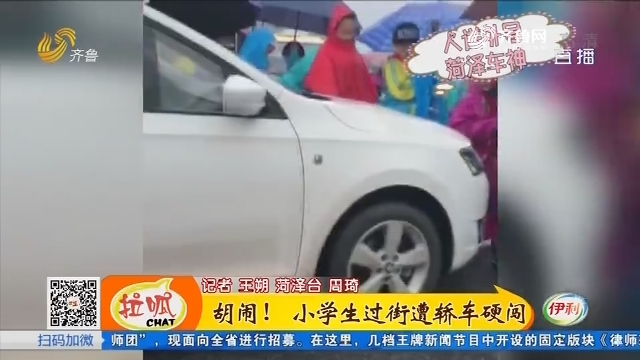菏泽:胡闹!小学生过街遭轿车硬闯