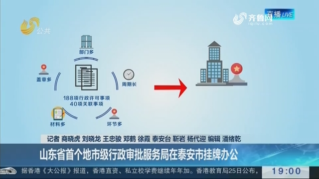 """【推进""""一次办好""""】山东省首个地市级行政审批服务局在泰安市挂牌办公"""