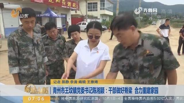 青州市王坟镇党委书记陈湘颖:干部做好脊梁 合力重建家园