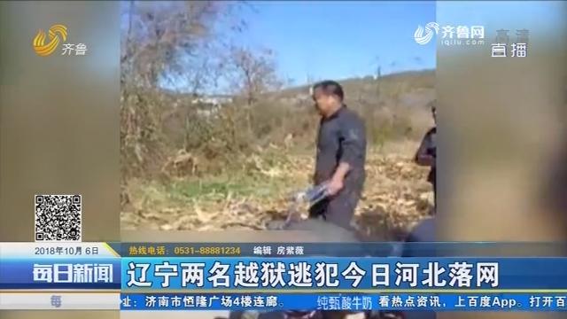 辽宁两名越狱逃犯10月6日河北落网