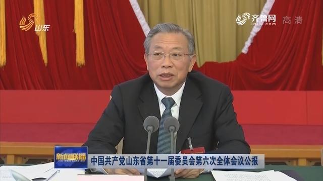 中国共产党山东省第十一届委员会第六次全体会议公报