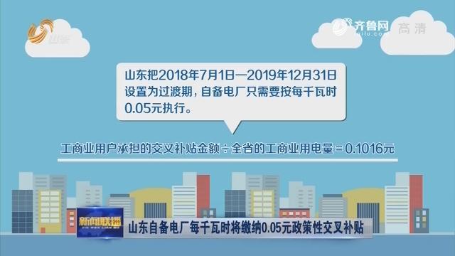 山东自备电厂每千瓦时将缴纳0.05元政策性交叉补贴