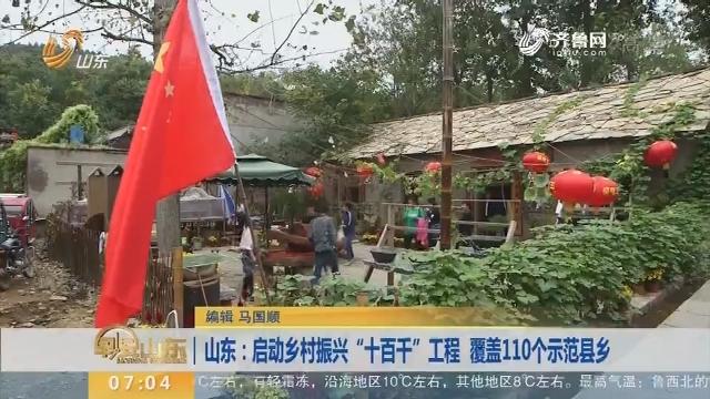 """山东:启动乡村振兴""""十百千""""工程 覆盖110个示范县乡"""