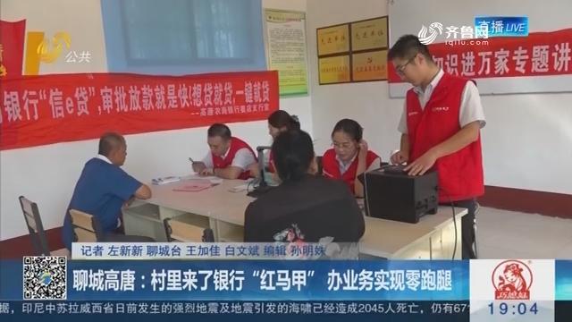 """聊城高唐:村里来了银行""""红马甲"""" 办业务实现零跑腿"""