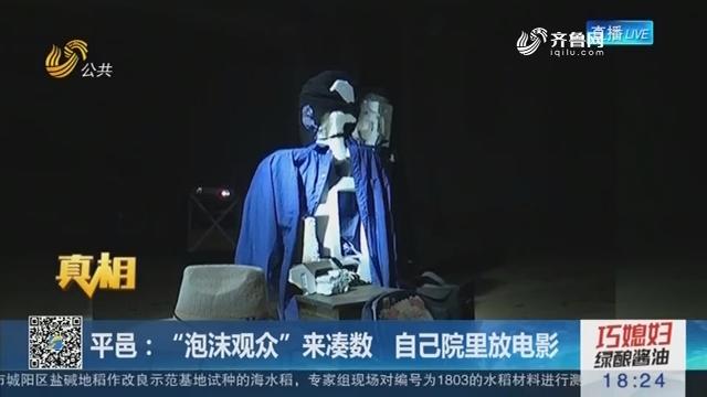 """【真相】平邑:""""泡沫观众""""来凑数 自己院里放电影"""
