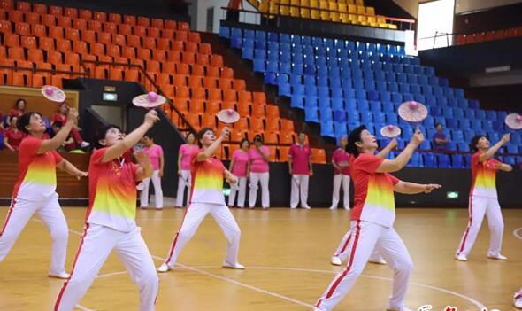 全省第八届全民健身运动会柔力球比赛落幕