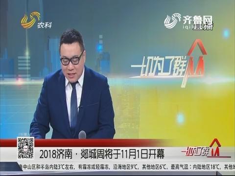 2018济南·郯城周将于11月1日开幕