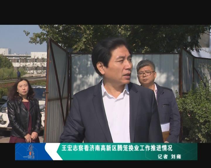 王宏志察看济南高新区腾笼换业工作推进情况