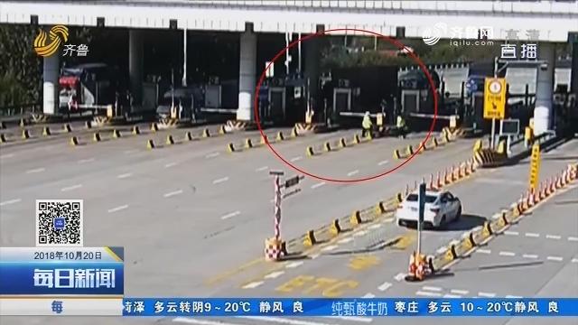 青岛:高速公路货车刹车失灵一路猛冲