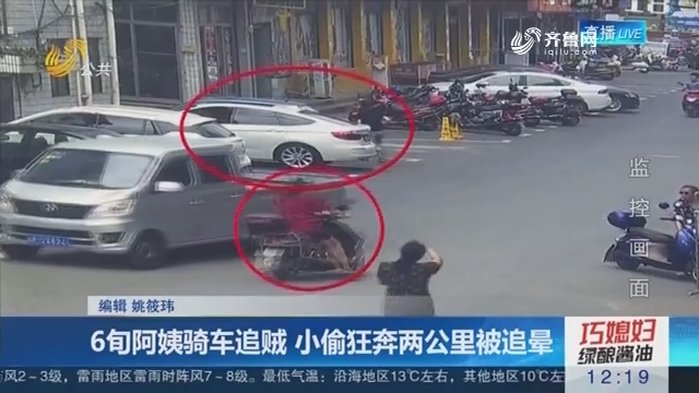 6旬姨妈骑车追贼 小偷狂奔两公里被追晕