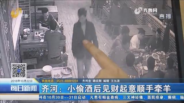 齐河:小偷酒后见财起意随手牵羊 不意失主是民警