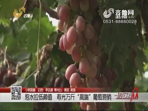"""【小群跑腿】寿光:泡水拉低颜值 寿光万斤""""高端""""葡萄滞销"""