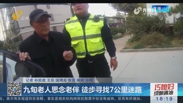 淄博:九旬老人思念老伴 徒步寻找7公里迷路