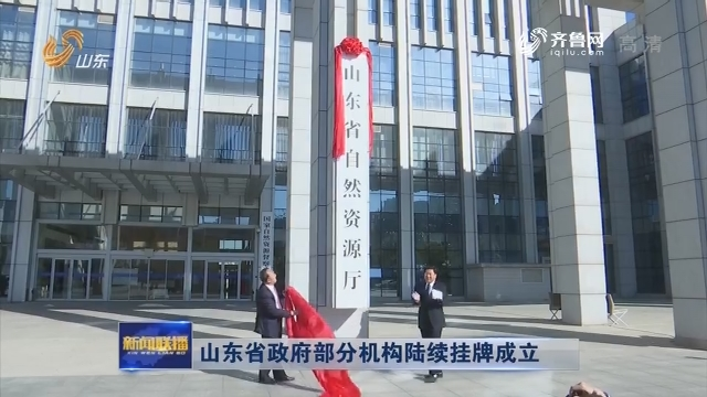 山东省政府部分机构陆续挂牌成立