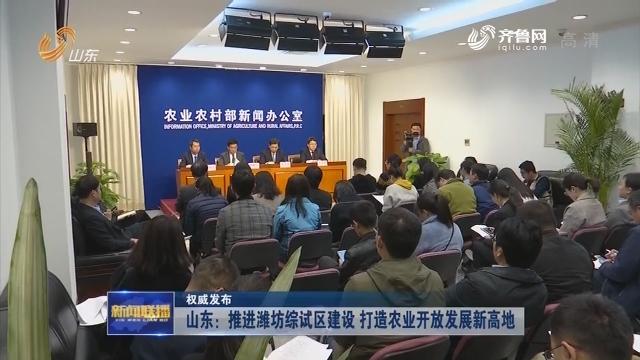 【权威发布】山东:推进潍坊综试区建设 打造农业开放发展新高地
